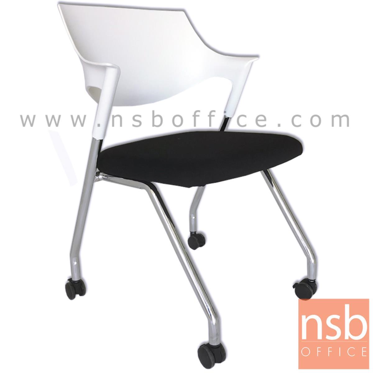B30A048:เก้าอี้อเนกประสงค์โพลี่ล้วน รุ่น Blue Bell (บลู เบล)  โครงขาเหล็กชุบโครเมี่ยม