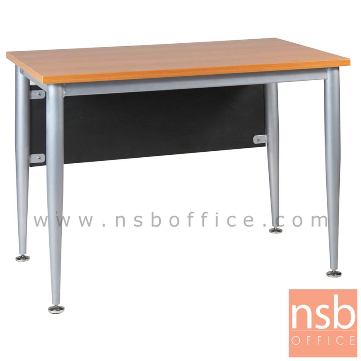 A07A044:โต๊ะทำงาน บังโป๊ดำ รุ่น FPF-18 ขนาด 120W ,150W ,180W cm. ขาเหล็กพ่นบอร์นเงิน