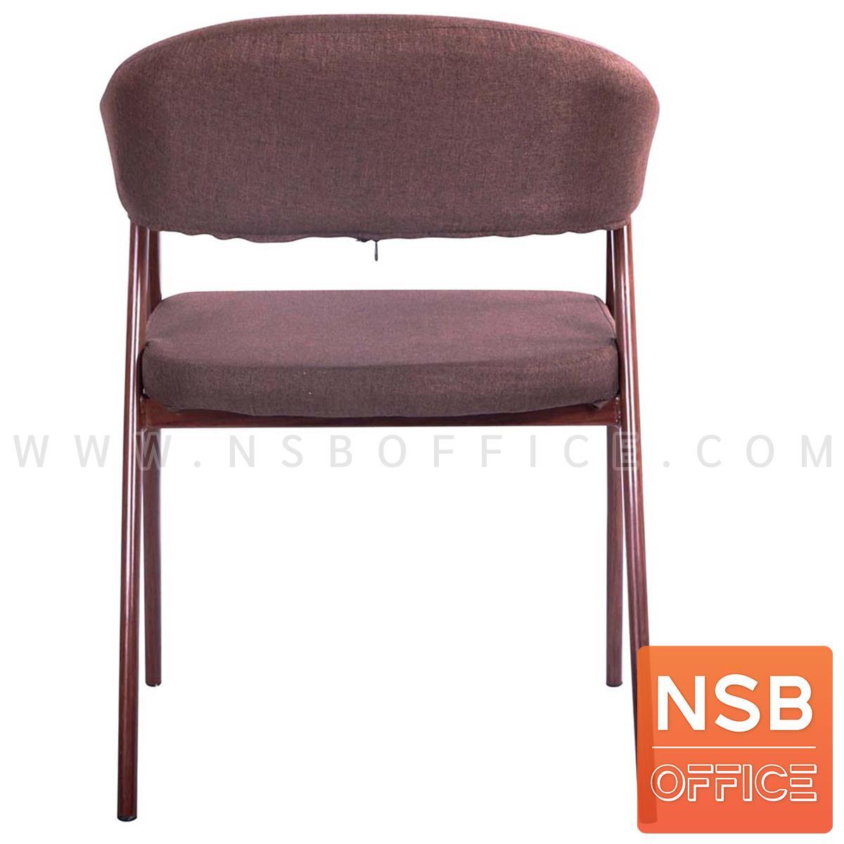 เก้าอี้โมเดิร์นหุ้มผ้า รุ่น Novel (โนเวล)  ขาเหล็กลายไม้