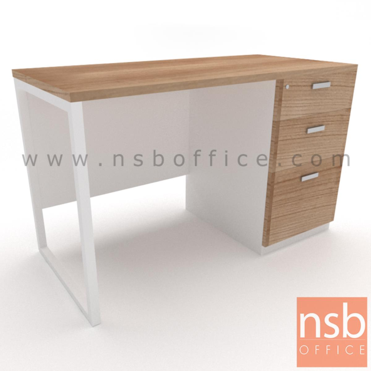 โต๊ะทำงาน 3 ลิ้นชักทึบ  ขนาด 120W ,135W ,150W ,160W ,180W cm.  ขาเหล็กกล่องพ่นสี