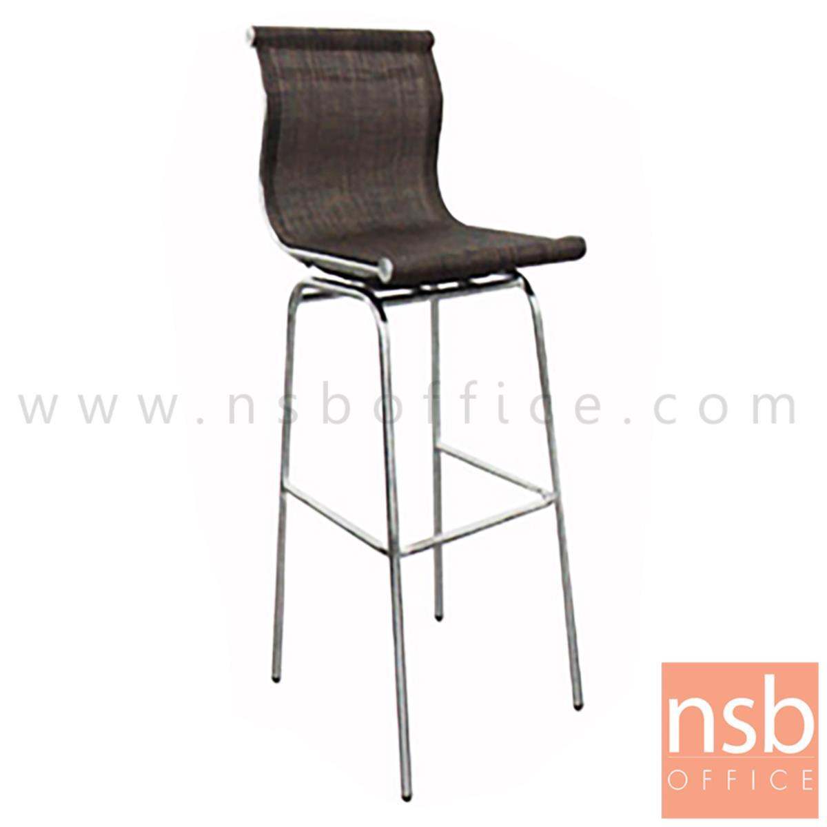 B09A101:เก้าอี้บาร์สูงผ้าเน็ต รุ่น BH-8818 ขนาด 39W cm. โครงเหล็กชุบโครเมี่ยม