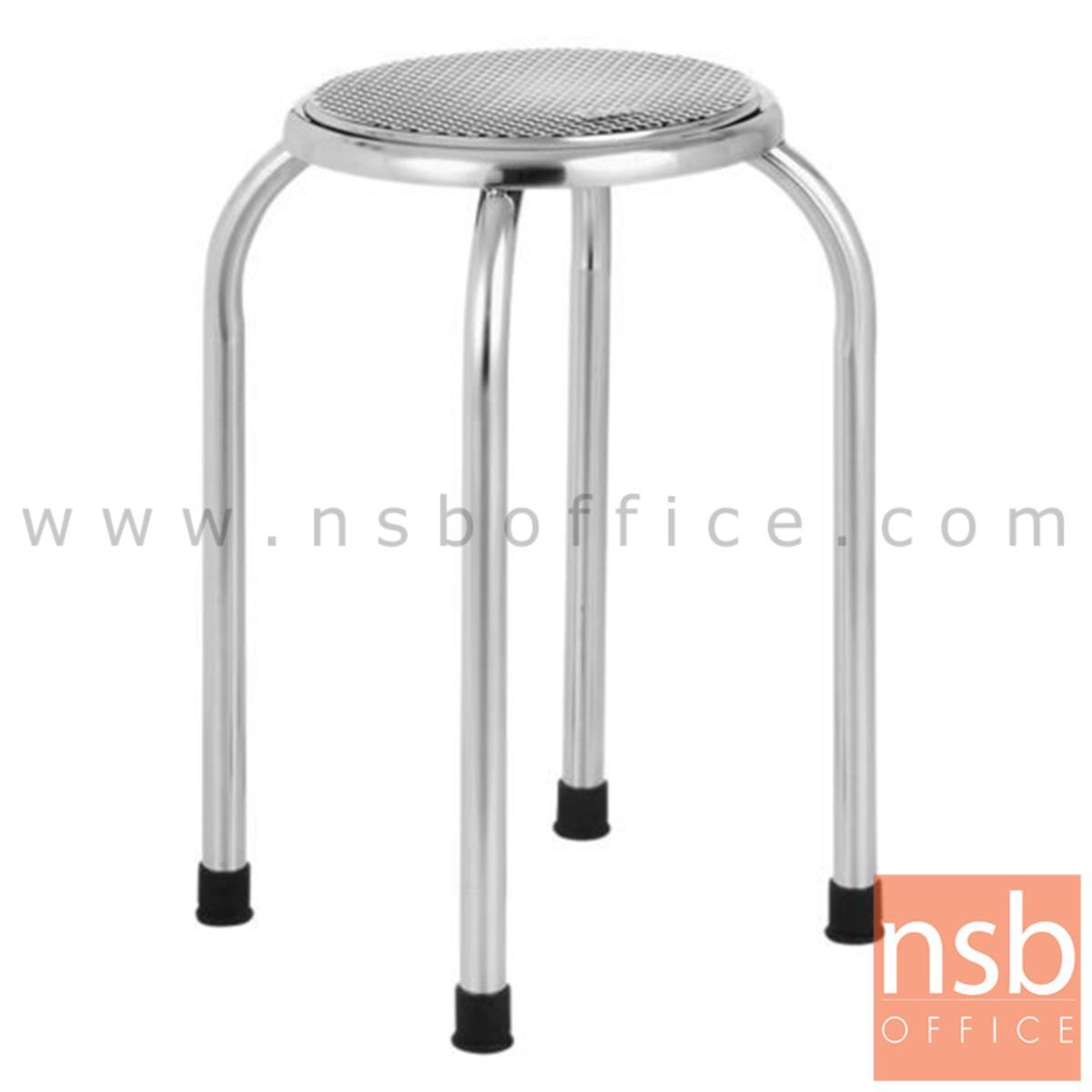 G12A071:เก้าอี้สตูลกลมที่นั่งสเตนเลส รุ่น Sargant (ซาแกนต์) 28Di*49H cm. สเตนเลสล้วน