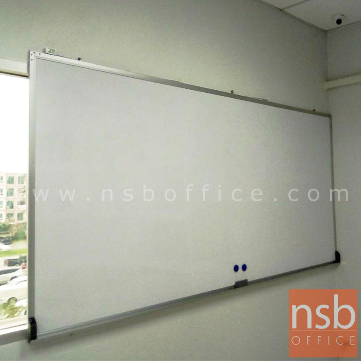 """กระดานไวท์บอร์ด White board ขนาดใหญ่   ขอบอลูมิเนียมขนาด  1"""" * 1/2"""" นิ้ว (พร้อมงานติดตั้งบนผนัง)"""