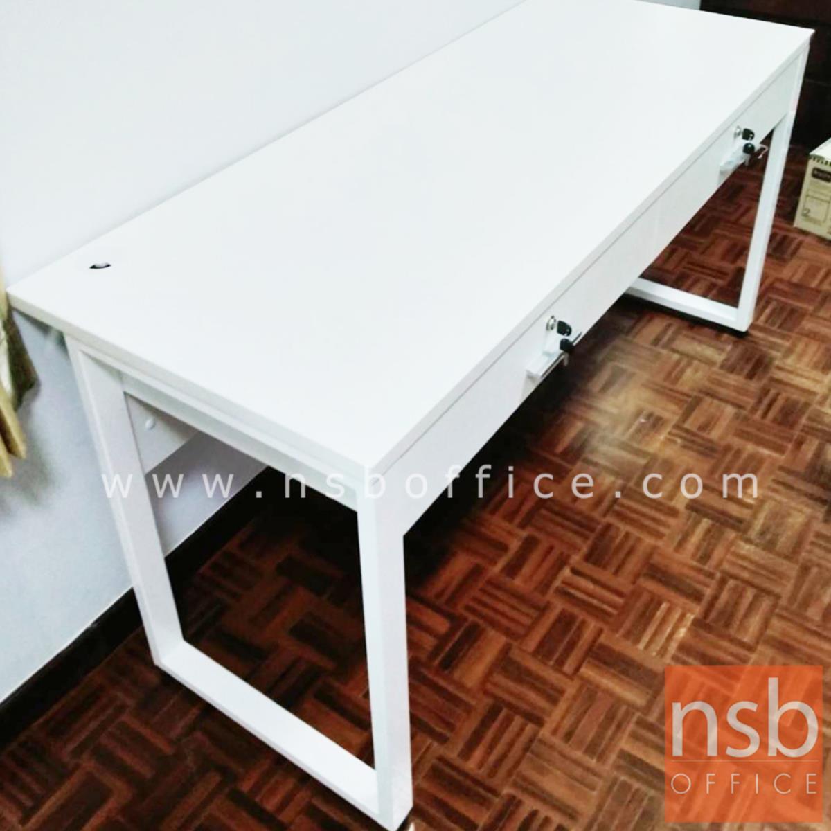 โต๊ะทำงาน 2 ลิ้นชัก รุ่น Richmond (ริชมอนด์)  ขนาด 120W,150W,180W cm. ขาเหล็ก