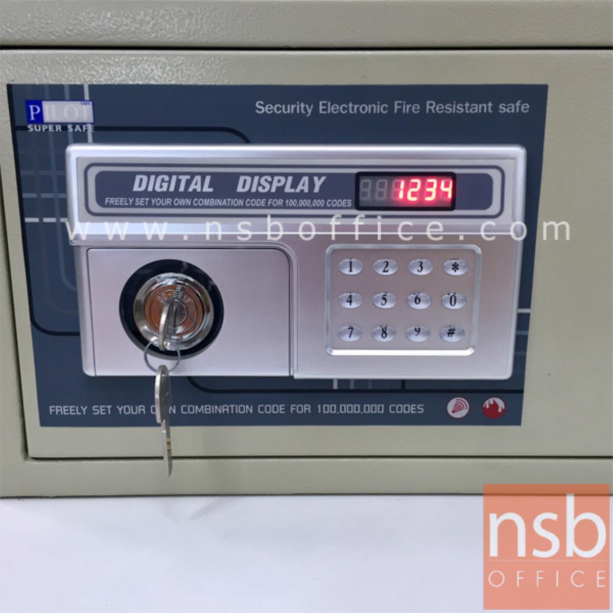 ตู้เซฟดิจิตอล 25 กก. (1 กุญแจไข / 1 รหัสกด) ขนาด 42W*34D*25H cm.