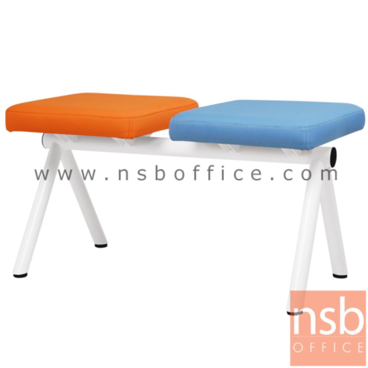 B06A129:เก้าอี้นั่งคอยหุ้มหนังเทียม รุ่น CL-UM   2 ,3 ,4 ที่นั่ง ขนาด 88W ,140W ,188W cm. ไม่มีพนักพิง ขาเหล็ก