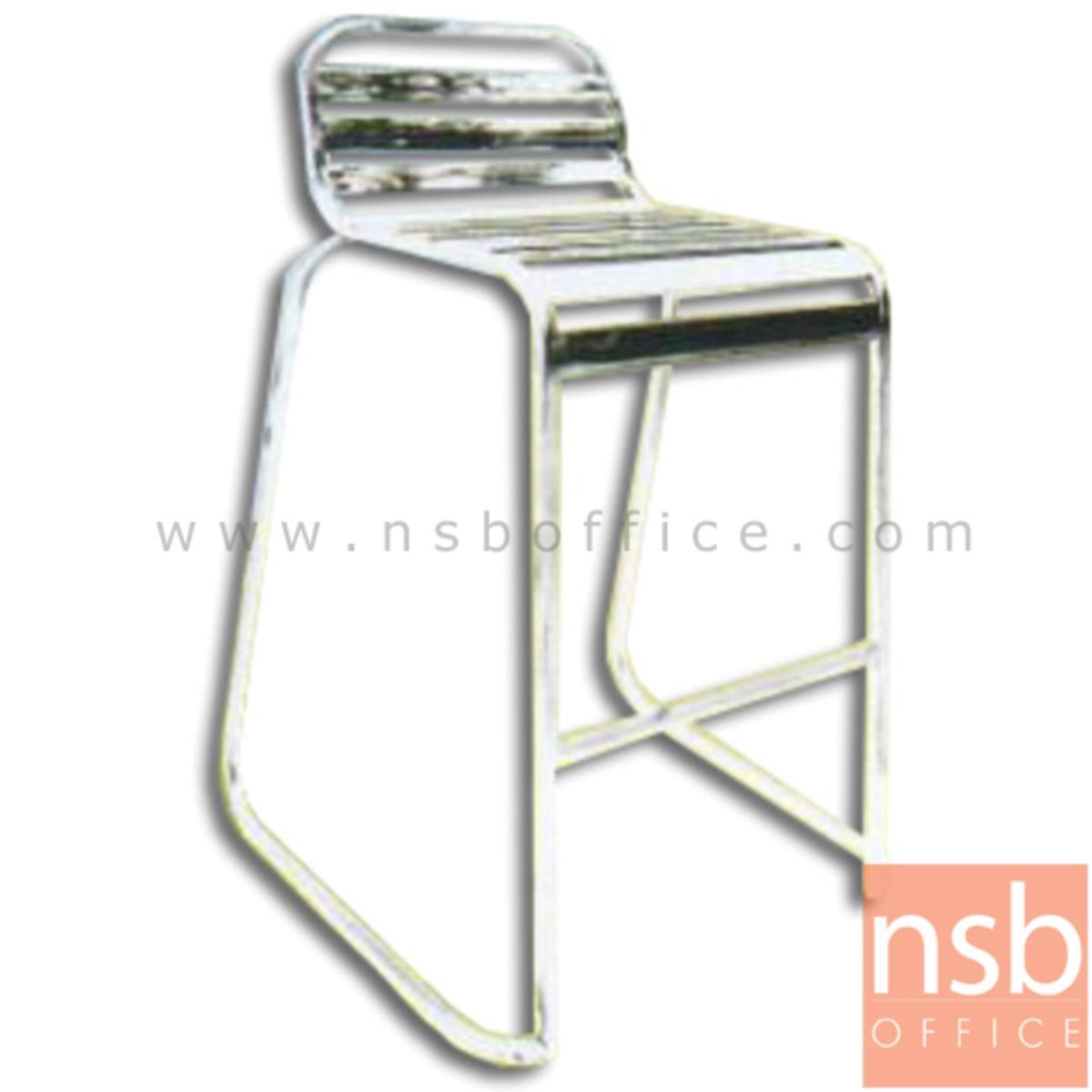 G12A178:เก้าอี้บาร์สเตนเลสสูง 97 ซม. ไม่มีท้าวแขน รุ่น KJC-741