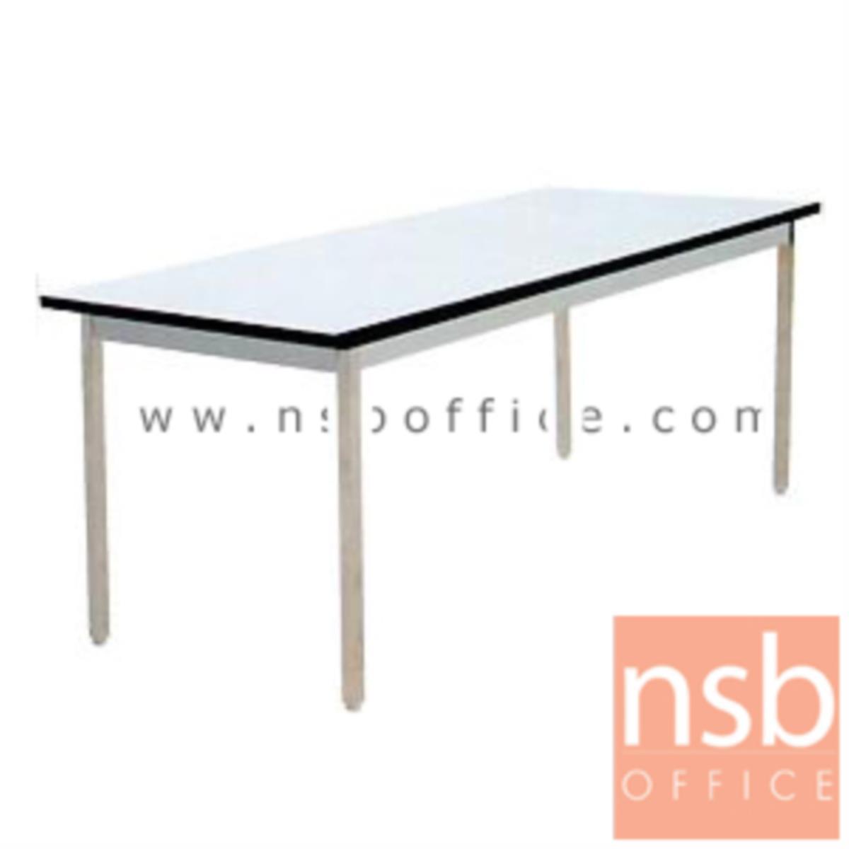 โต๊ะหน้าโฟเมก้าขาว 25 มม. รุ่น Blondie (บลอนดี้) ขนาด 4 ,5 ,6 ฟุต ขาเหล็กเหลี่ยมถอดประกอบได้