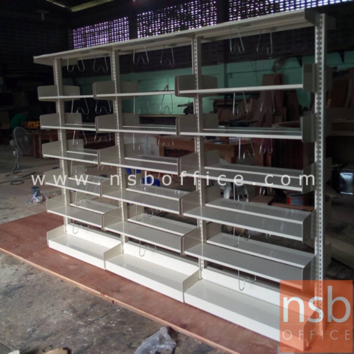 ชั้นห้องสมุด 6 ชั้นแบบ แบบ 3 ตอน  รุ่น TY-337  ขนาด 280W*49D*196.5H cm.