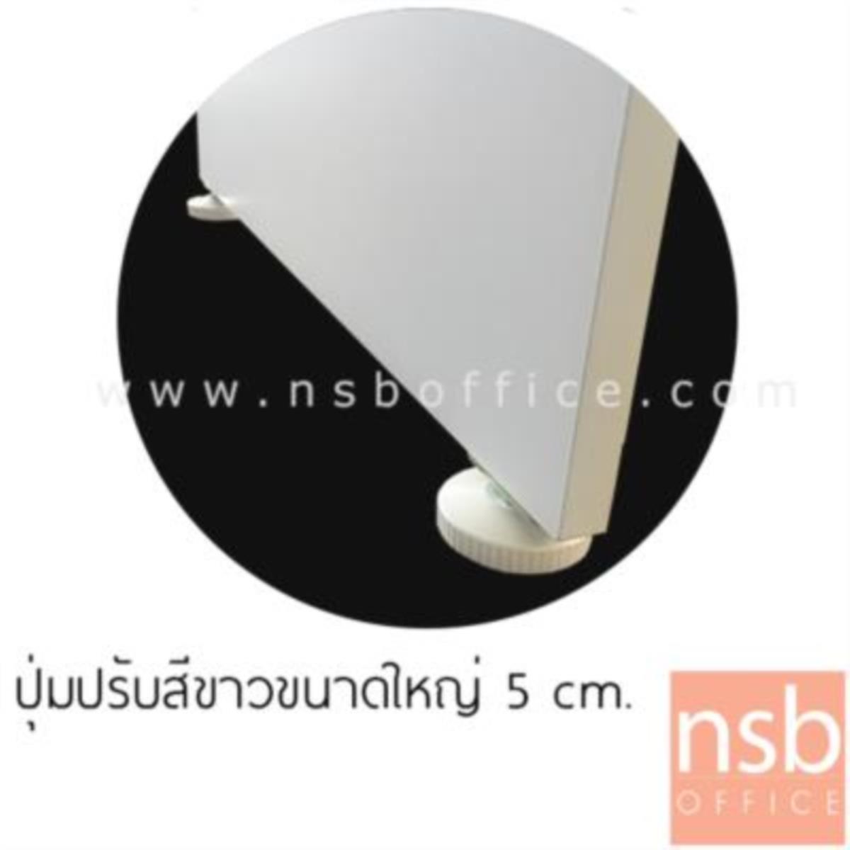 โต๊ะทำงานทรงตัวแอล  รุ่น SR-N15 ขนาด 150W cm. เมลามีน สีเนเจอร์ทีค-ขาว