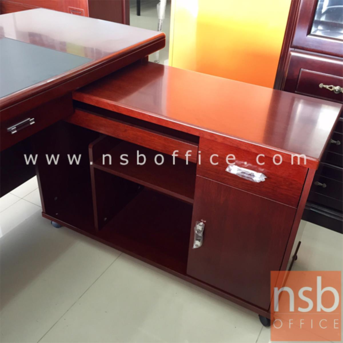 โต๊ะผู้บริหารตัวแอล 3 ลิ้นชัก รุ่น Rette (เรทท์) ขนาด 140W cm. พร้อมตู้ข้างล้อเลื่อน