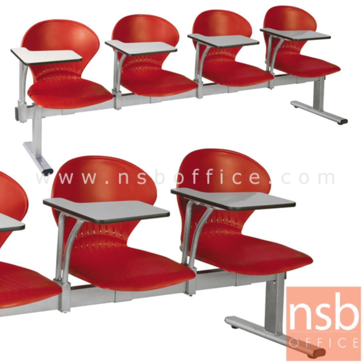 B17A027:เก้าอี้เลคเชอร์แถวเฟรมโพลี่ รุ่น D776 2 ,3 และ 4 ที่นั่ง ขาเหล็กพ่นสีเทา
