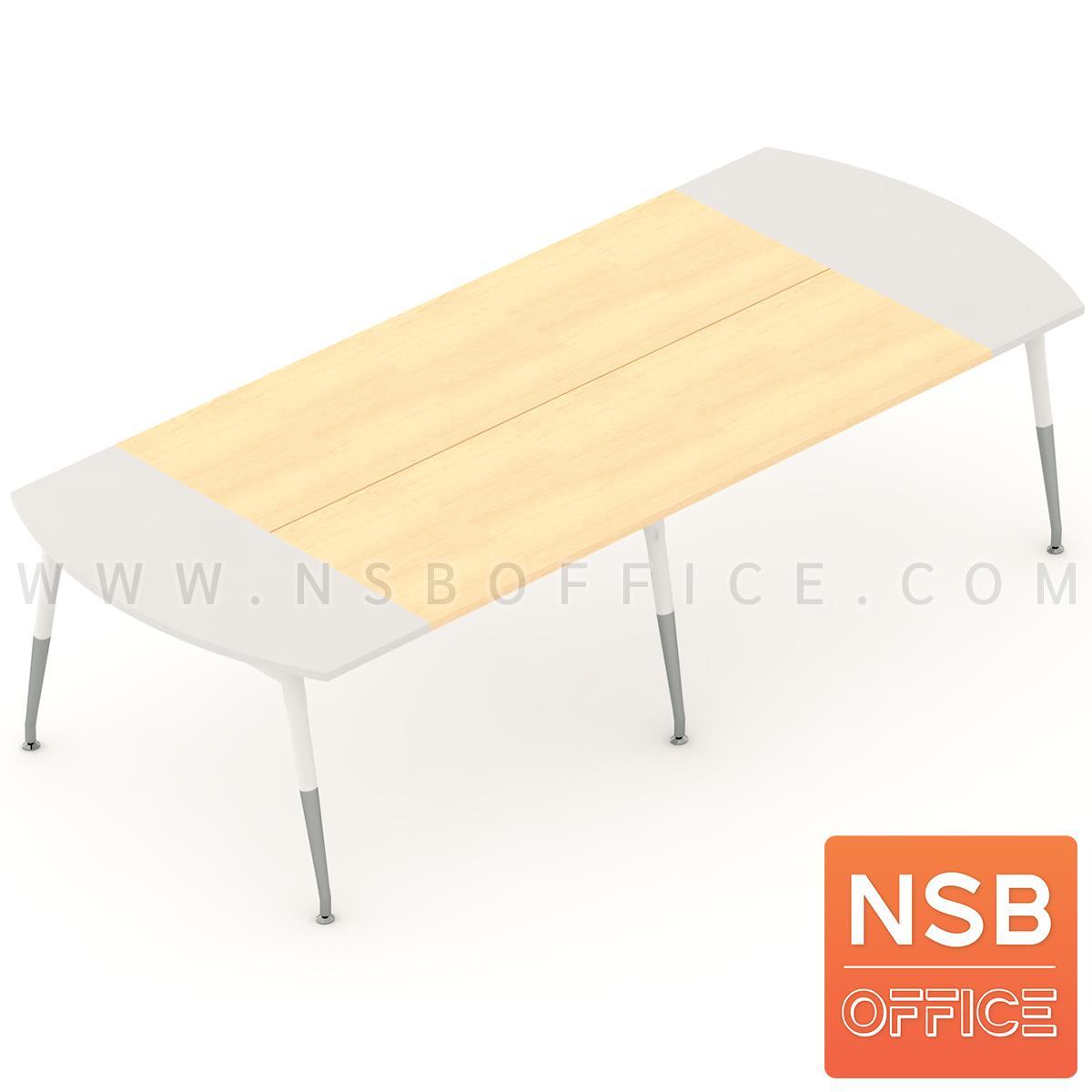 A05A119:โต๊ะประชุมหัวโค้ง ขาปลายเรียว ลึก 120 cm.