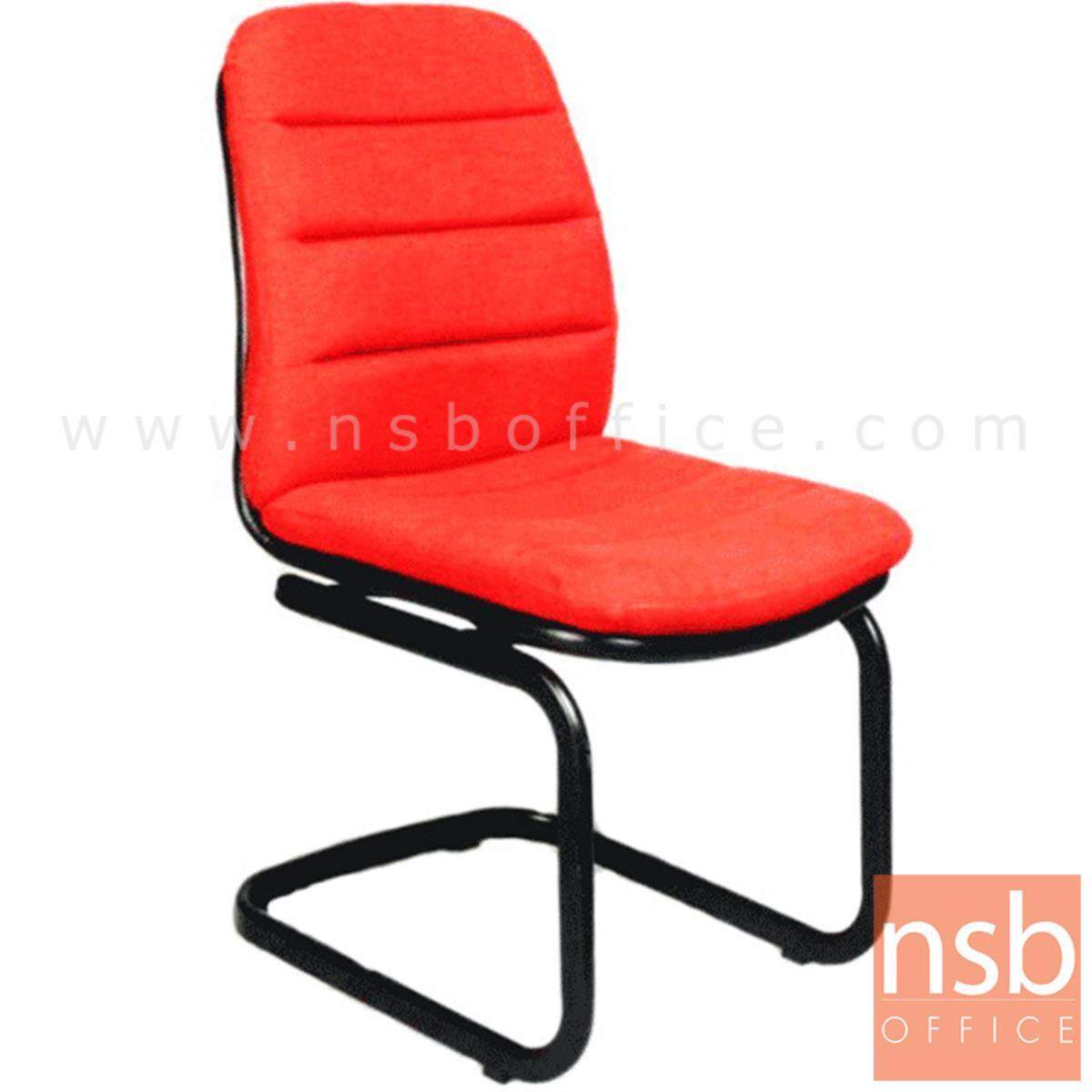 B04A123:เก้าอี้รับแขกขาตัวซี รุ่น CH-19926  ขาเหล็กพ่นดำ