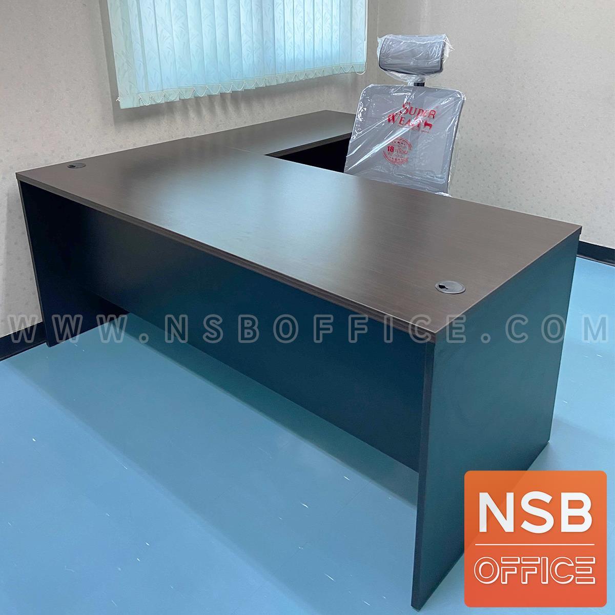 โต๊ะผู้บริหารตัวแอล รุ่น Bonita (โบนิต้า) ขนาด 180W*180D cm. พร้อม 3 ลิ้นชักข้าง กุญแจล็อกรวม