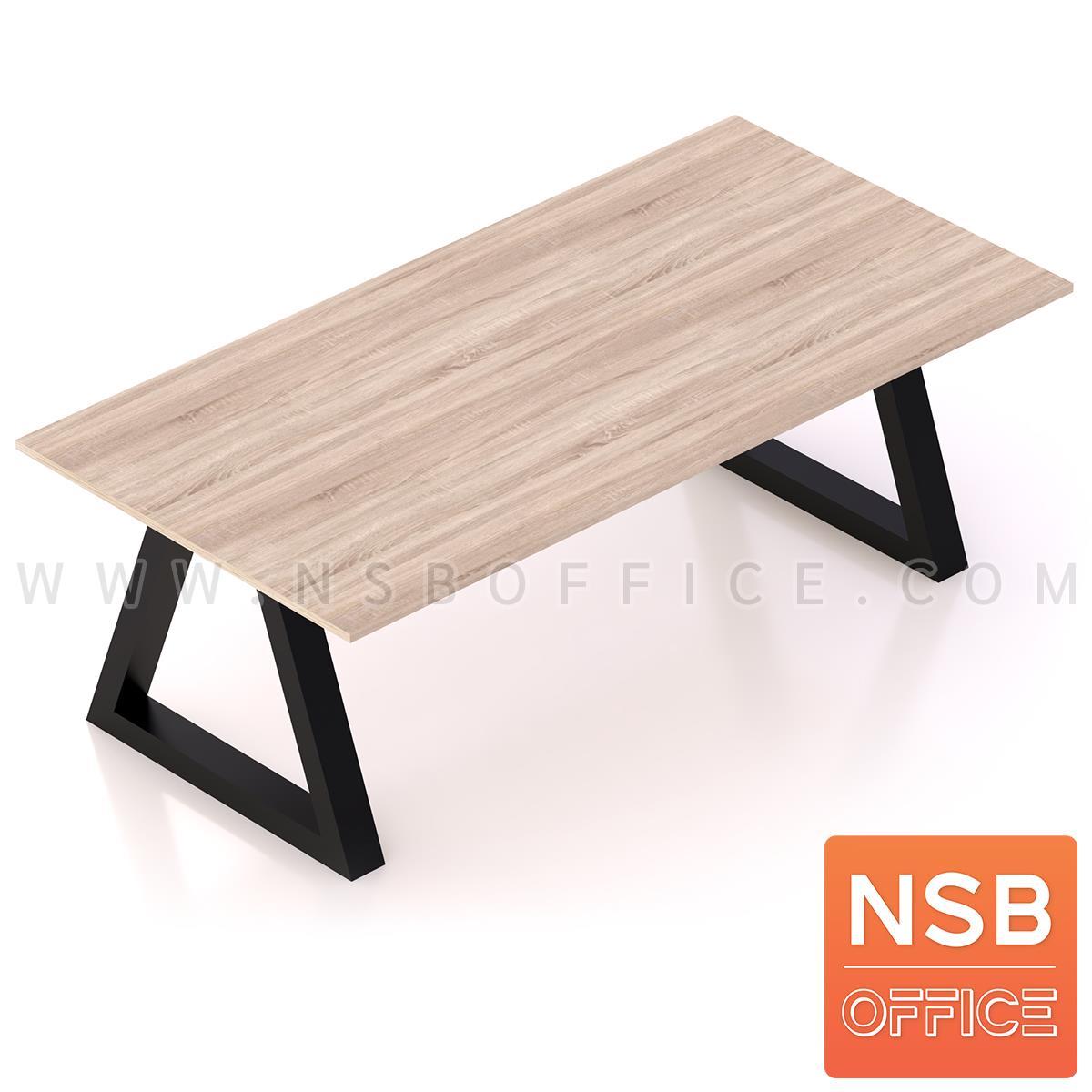 A05A188:โต๊ะประชุมทรงสี่เหลี่ยม รุ่น  Harington (แฮริงตัน) ขนาด 240W cm. ขาทรงสามเหลี่ยม