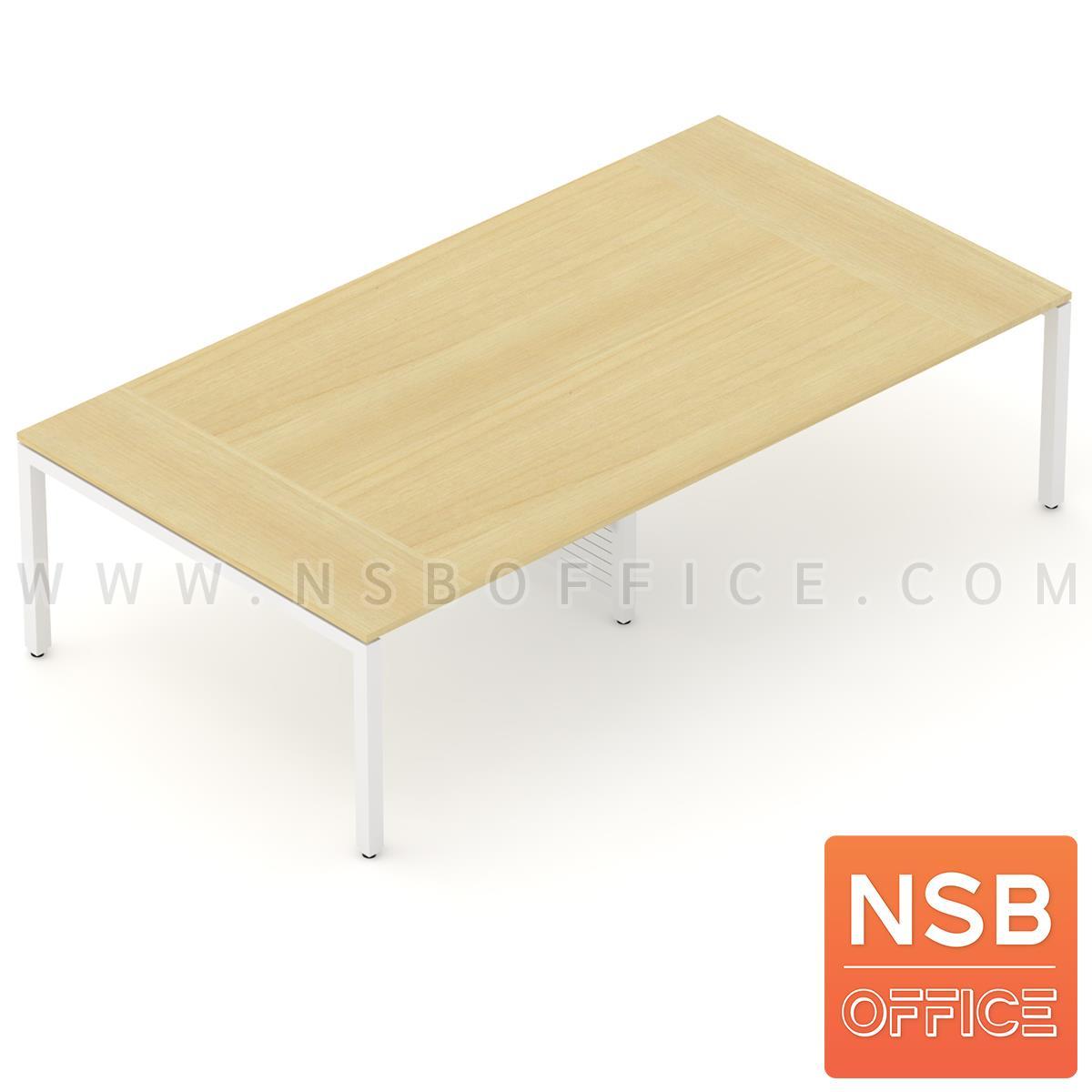 A05A086:โต๊ะประชุมทรงสี่เหลี่ยม 150D cm. รุ่น CONNEXX-051  ขากลางมีกล่องร้อยสาย