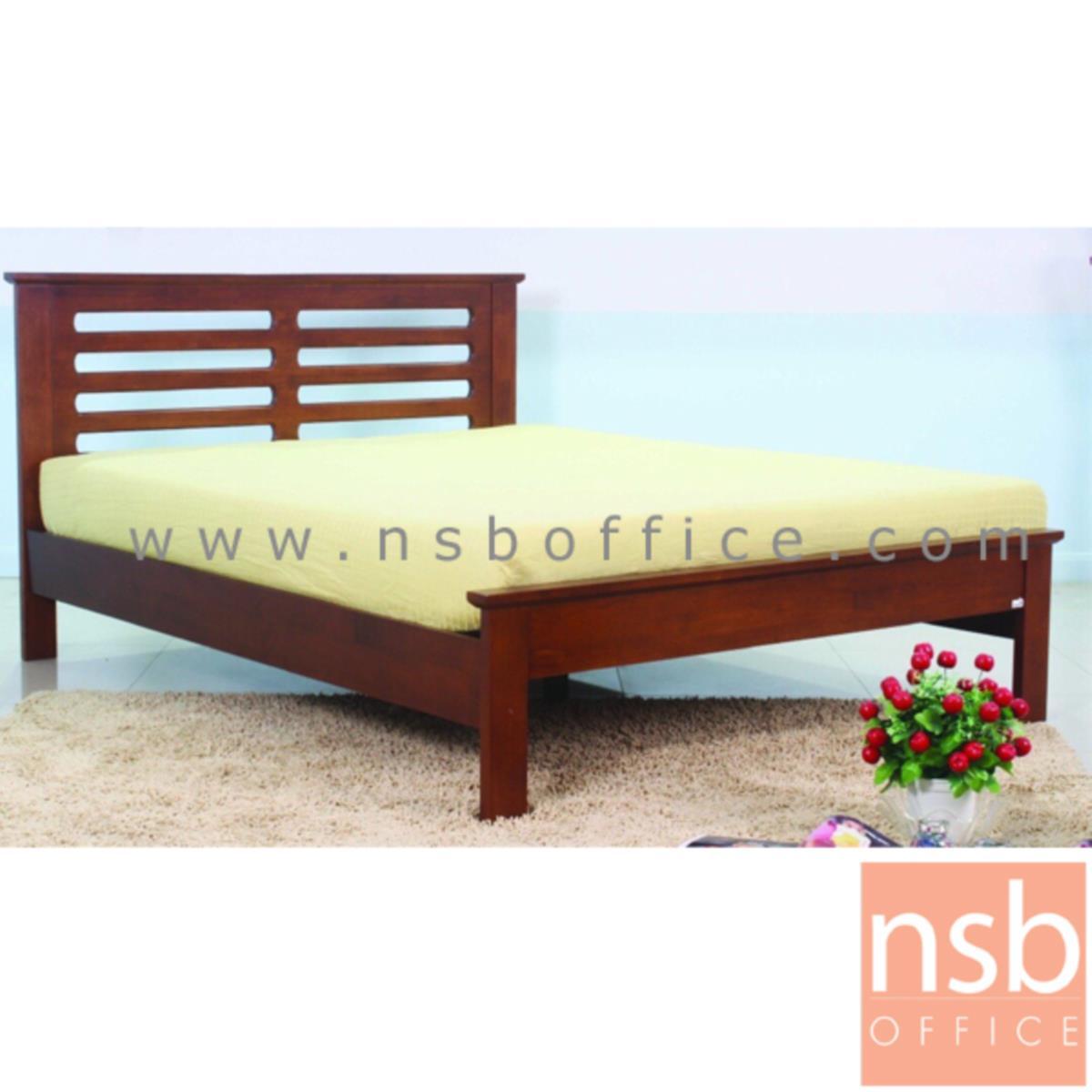 G11A267:เตียงไม้ยางพารา สีสัก กว้าง 3.5 , 5 , 6 ฟุต
