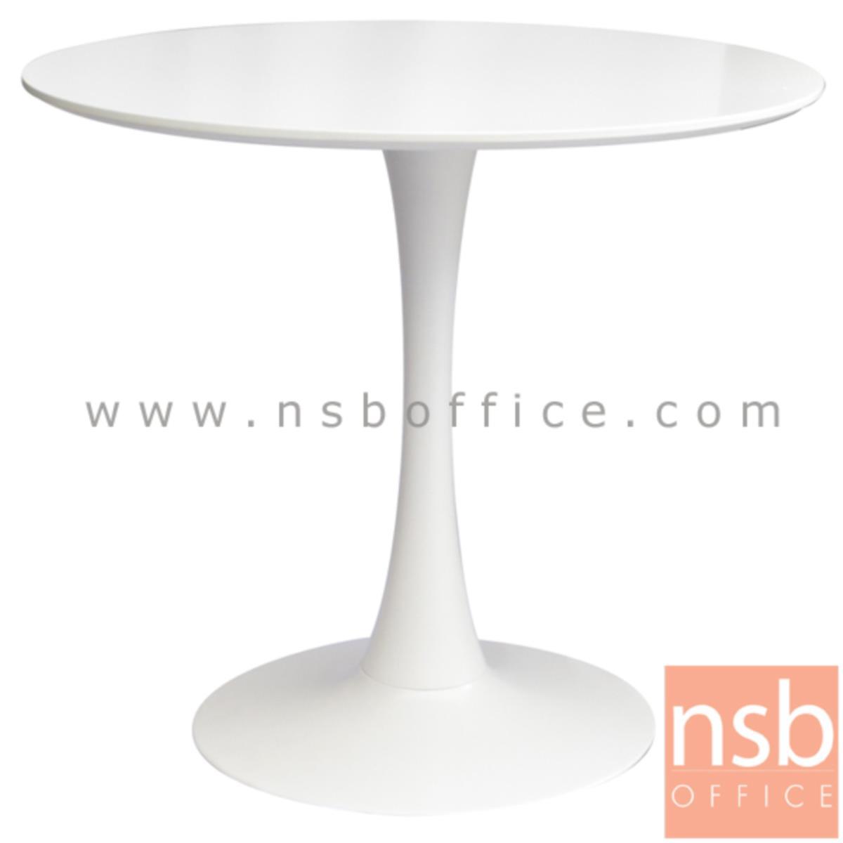 A14A163:โต๊ะหน้าพลาสติก รุ่น Jadeen (จาดีน) ขนาด 80Di cm.  ขาพลาสติกล้วน(PP)