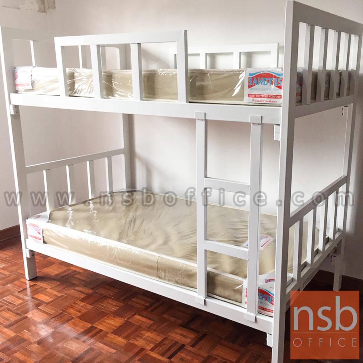 เตียงเหล็ก 2 ชั้น ขนาด 3.5 ฟุต เหล็กกล่องขนาดใหญ่พิเศษ  7W*3D cm (งานอพาร์ทเมนท์)