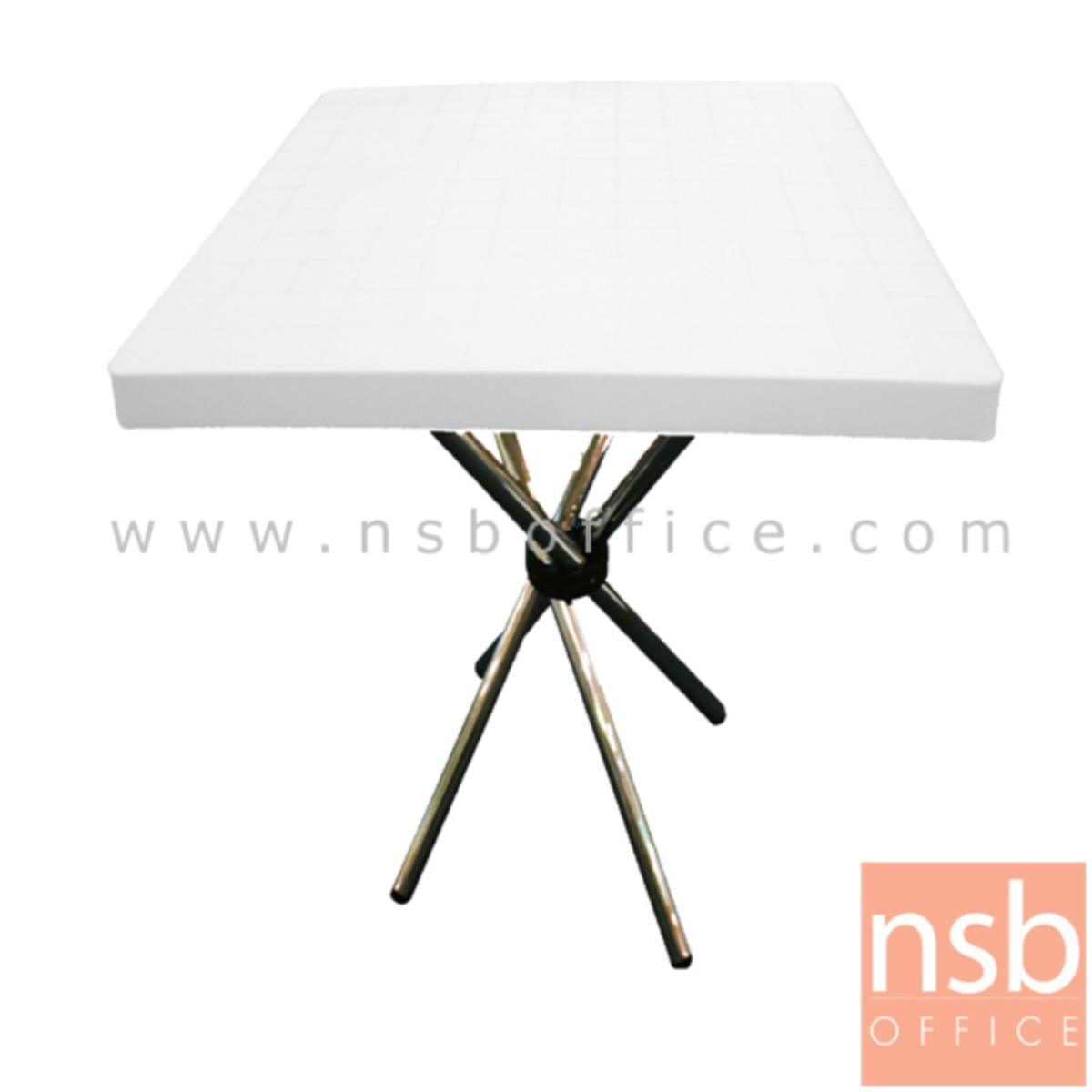 A09A102:โต๊ะหน้าพลาสติก(ABS) รุ่น PP94064  ขนาด 80Di cm.  ขาเหล็กชุบโครเมี่ยม