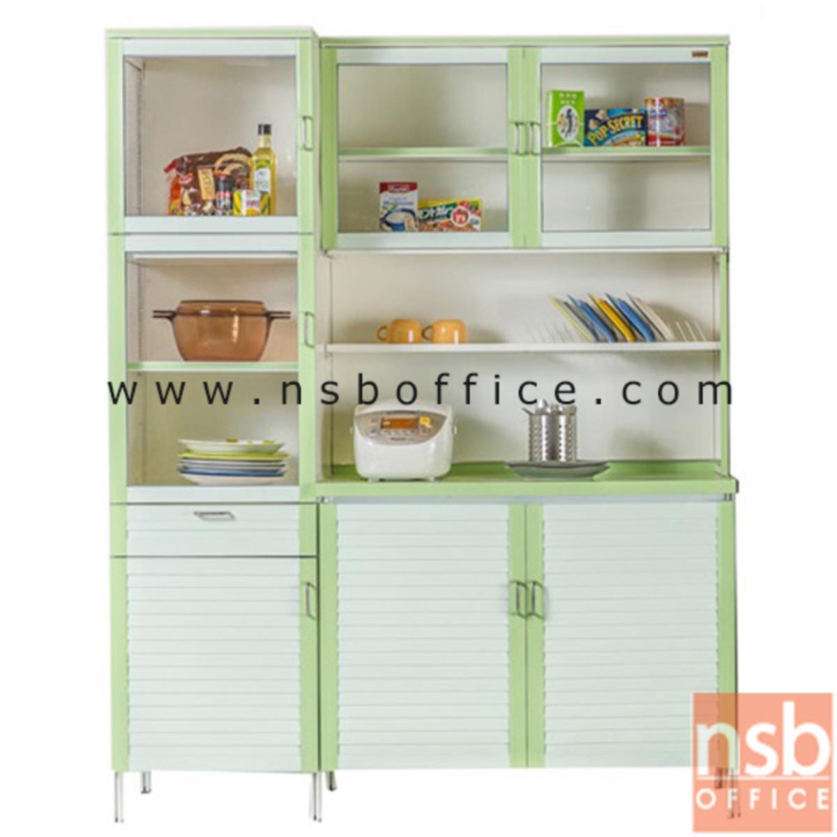 G07A083:ตู้ครัวสำหรับเก็บของใช้และอาหาร  ขนาด 148W*54D*190H cm.
