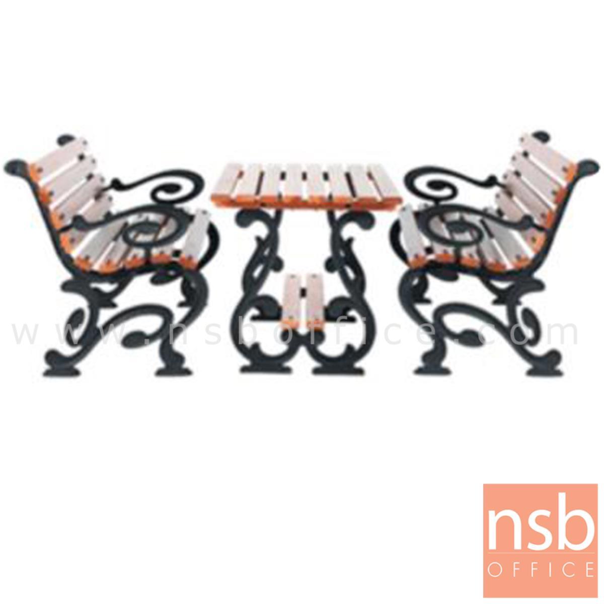 G08A046:ชุดโต๊ะสนาม พร้อมเก้าอี้ กทม. BKK-COT422 (โต๊ะ 1 + เก้าอี้ 2)