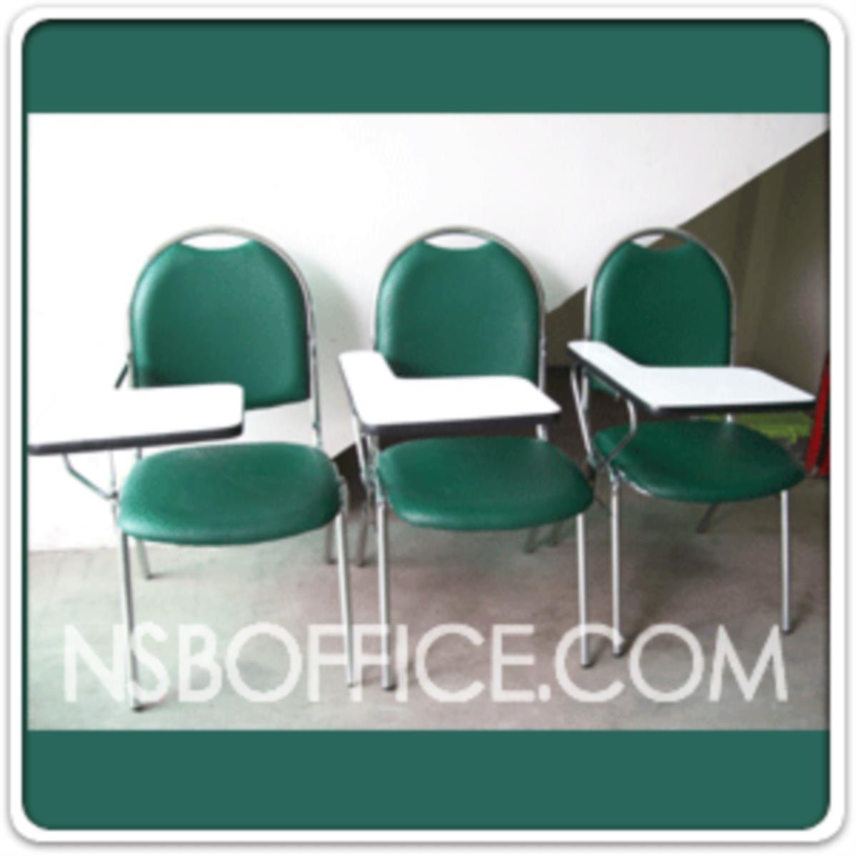 เก้าอี้เลคเชอร์หุ้มหนังเทียม (PVC) รุ่น CL-100 ขาเหล็กชุบโครเมี่ยมและขาเหล็กพ่นดำ