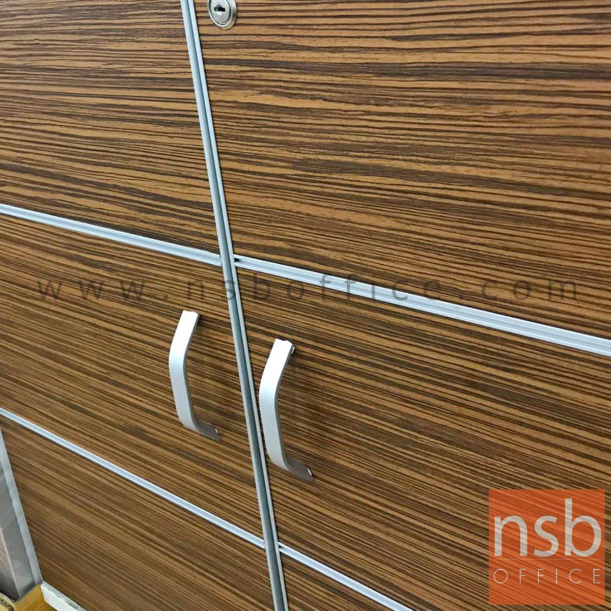 มือจับตู้ อลูมิเนียมสีเงินด้านโค้งรับมือ รุ่น NSB-HAND4  (ขนาด 96 mm)
