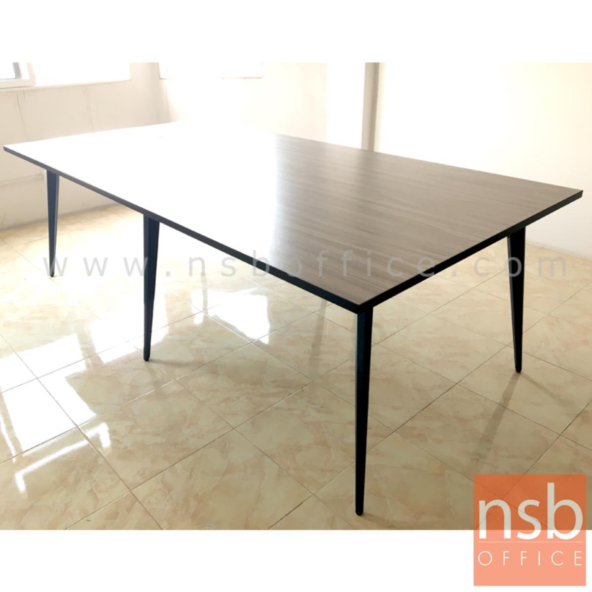 โต๊ะประชุมทรงสี่เหลี่ยม รุ่น SKYLINE ขนาด 240W cm. ขาปลายเรียวหกเหลี่ยม สีเทาฟ้า