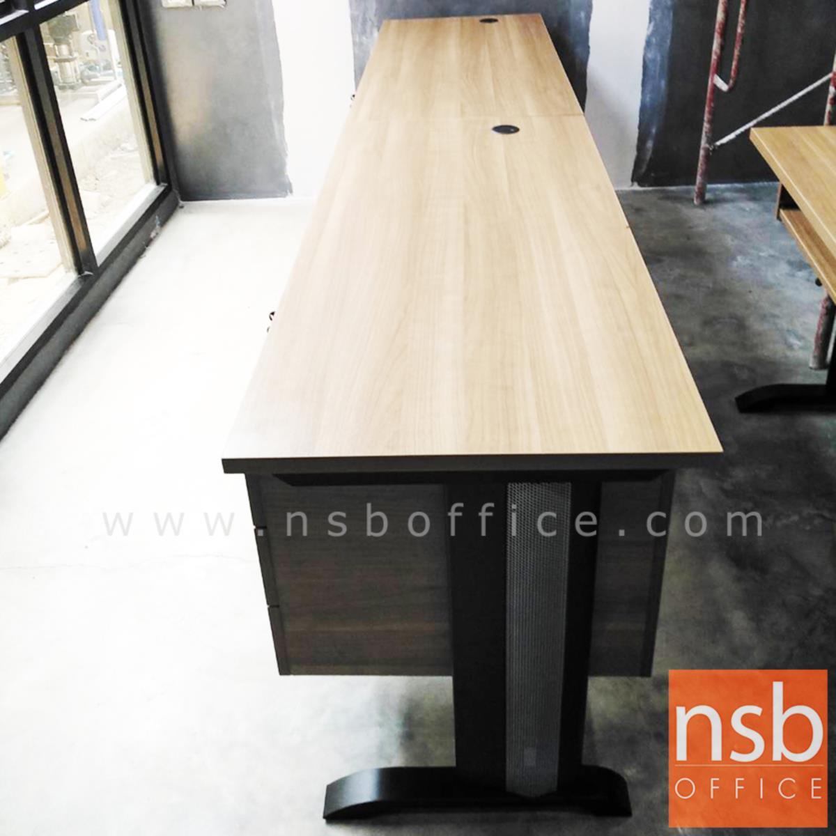 โต๊ะทำงาน 3 ลิ้นชัก  120W ,135W ,150W ,180W (75D, 80D) cm.  ขาเหล็กตัวแอล