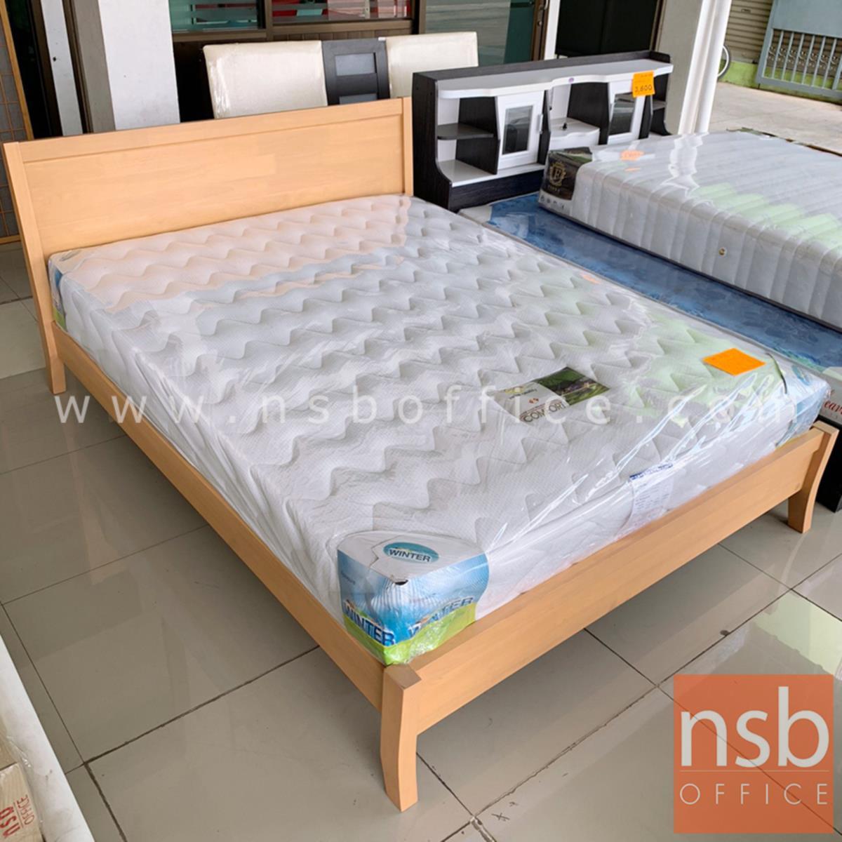 เตียงนอนไม้ยางพาราล้วน รุ่น FTW-FE2 3.5 , 5 และ 6 ฟุต