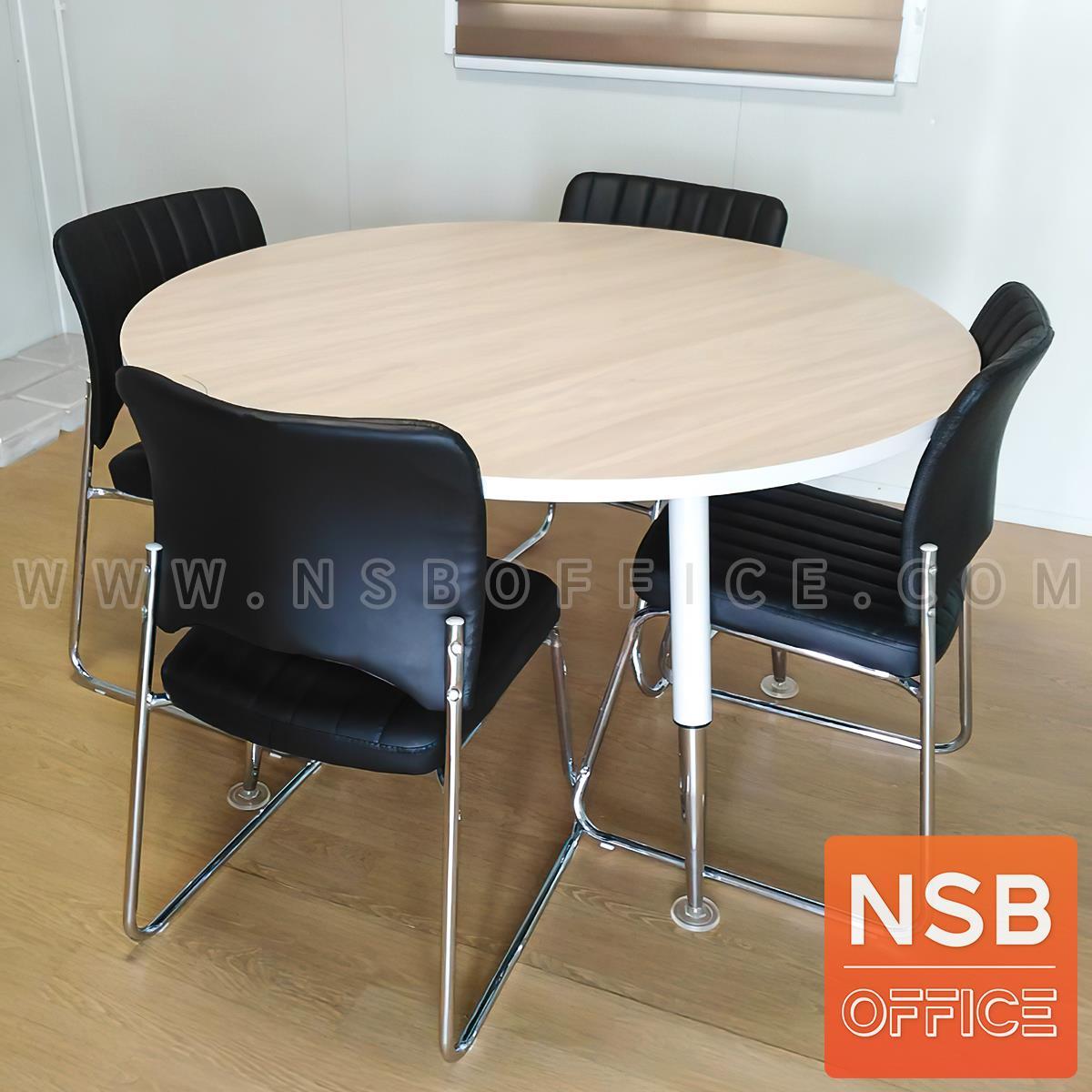 โต๊ะประชุมทรงวงกลม รุ่น Wazowski (วาซอว์สกี้) ขนาด 90Di, 120Di cm. ขาเหล็กปลายเรียว