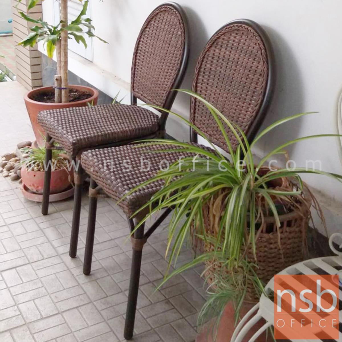 เก้าอี้สนามหวายเทียมสาน รุ่น Campbell ไม่มีท้าวแขน (ใช้กับโต๊ะหวายฯ รุ่น G08A236, G08A237)