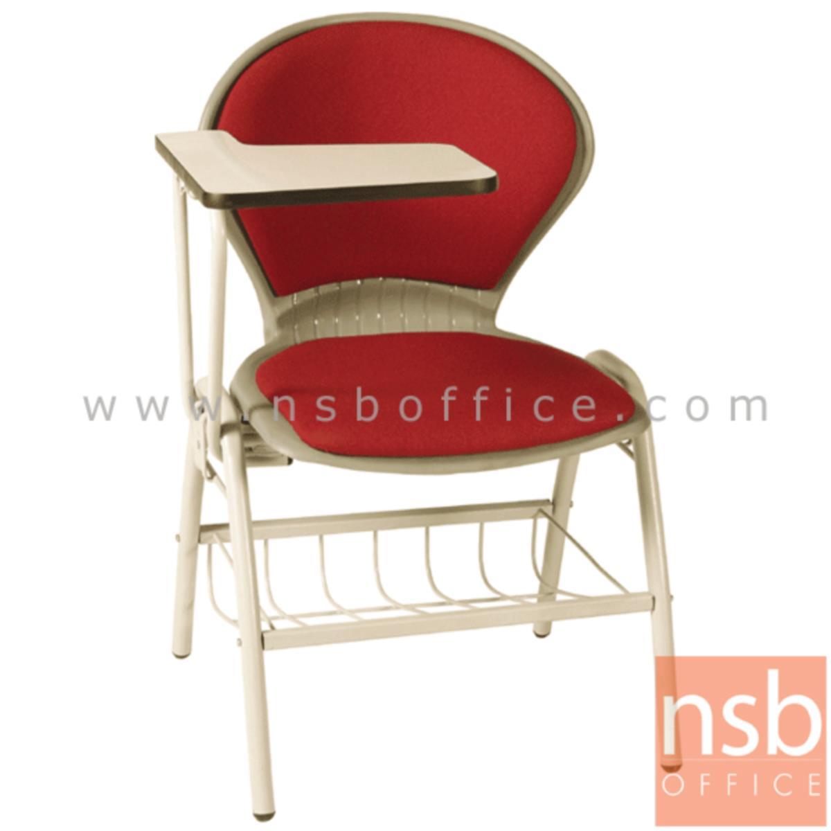 เก้าอี้เลคเชอร์เฟรมโพลี่ รุ่น C076-466 (มีตะแกรงวางของ) ขาเหล็กพ่นสี
