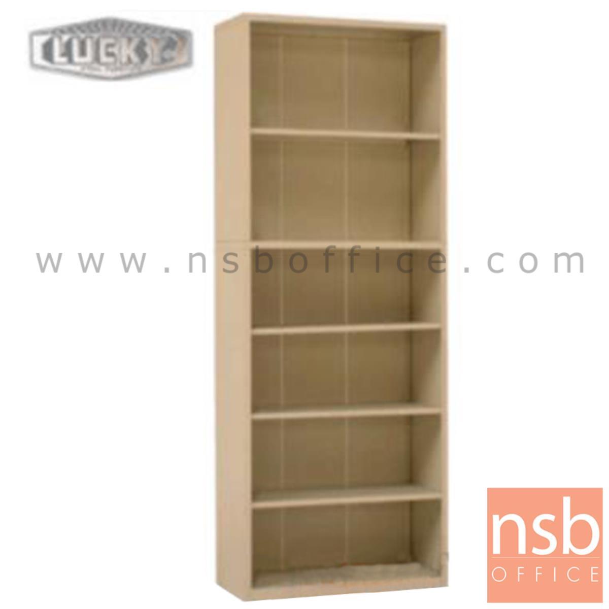 E28A035:ตู้วางหนังสือ 6 ช่องโล่ง 76.2W*32D*198.1H cm. รุ่น LUCKY-SB-3078