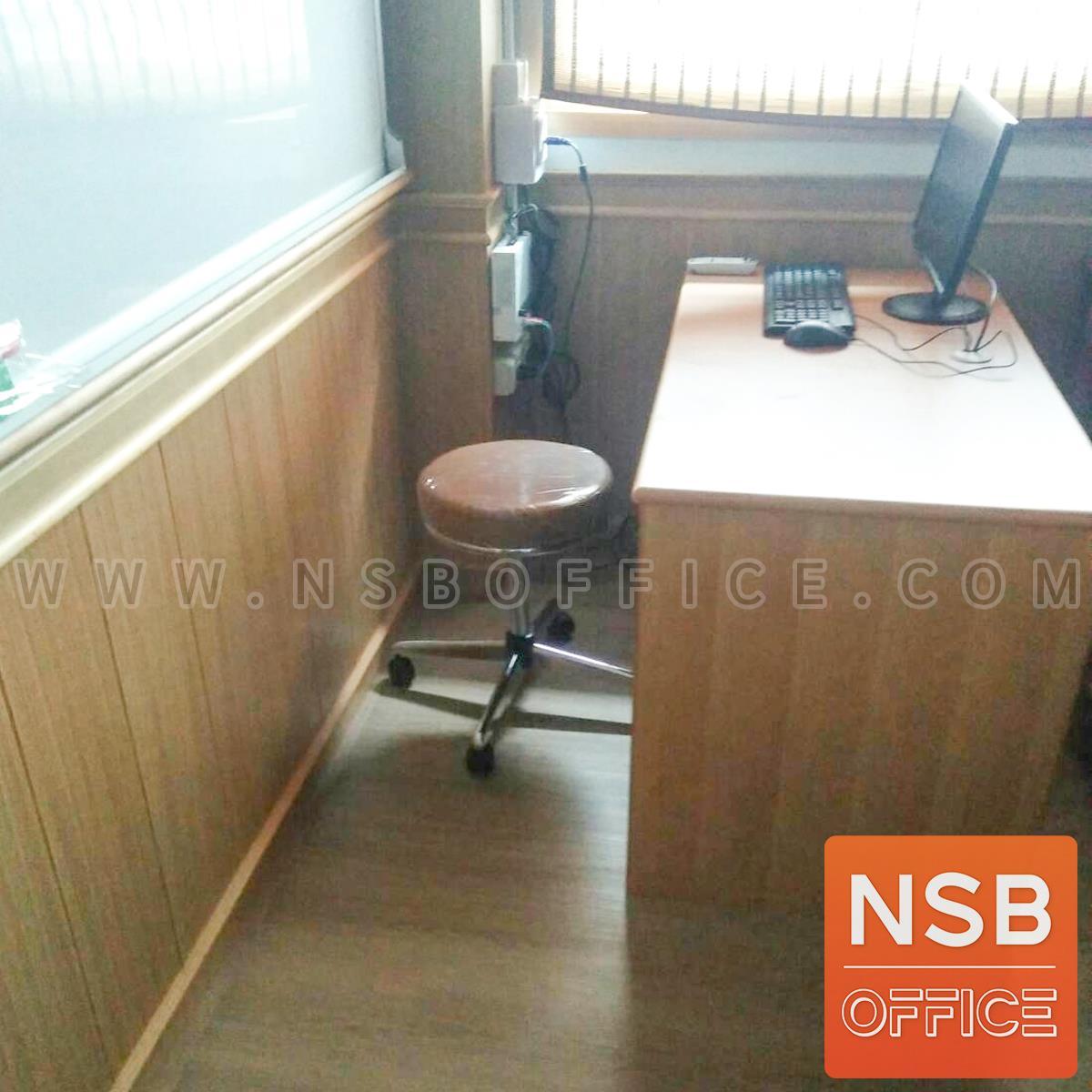 เก้าอี้บาร์สตูลที่นั่งกลมล้อเลื่อน รุ่น CS-023 ขาเหล็ก