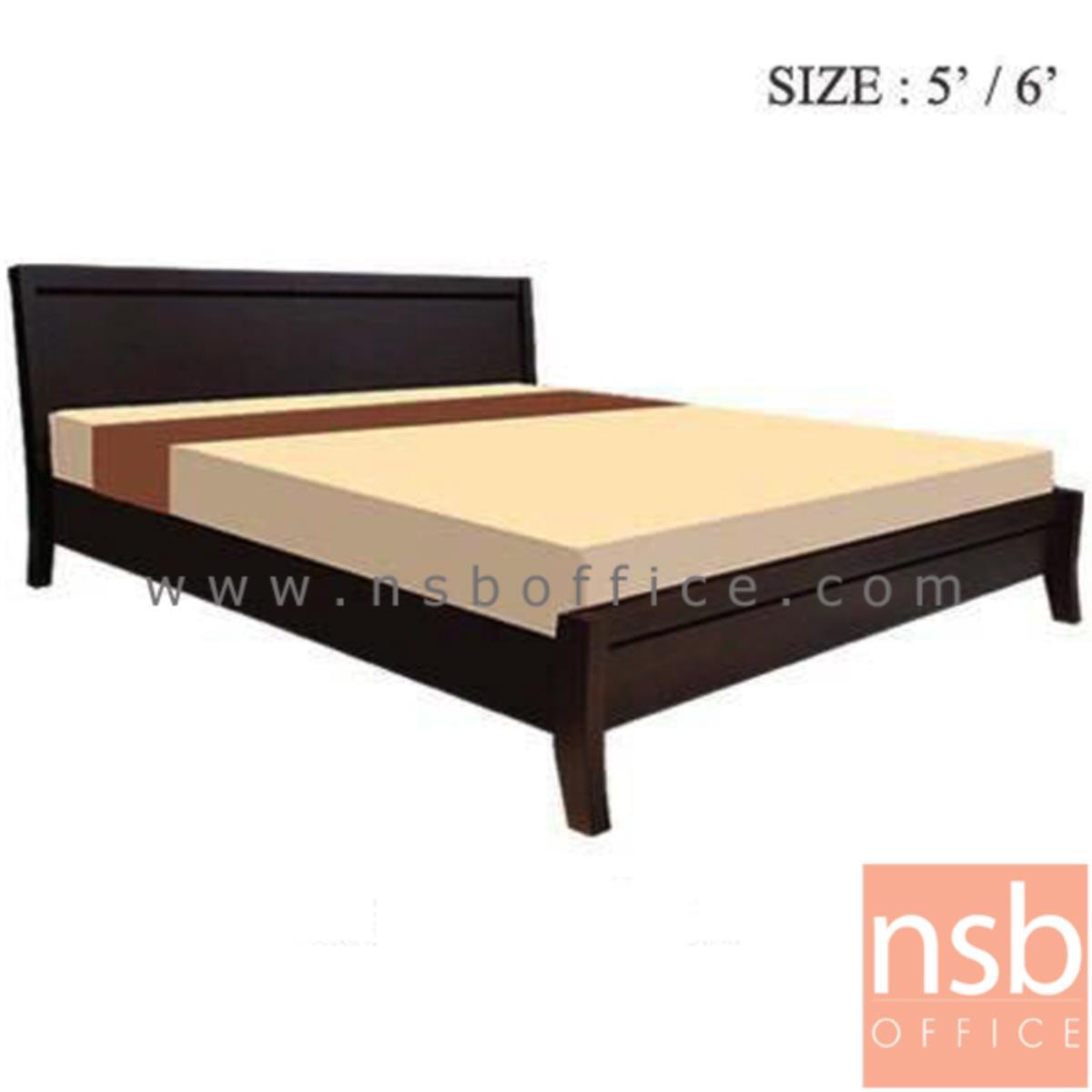 G11A103:เตียงนอนไม้ยางพาราล้วน รุ่น FTW-FE2 3.5 , 5 และ 6 ฟุต