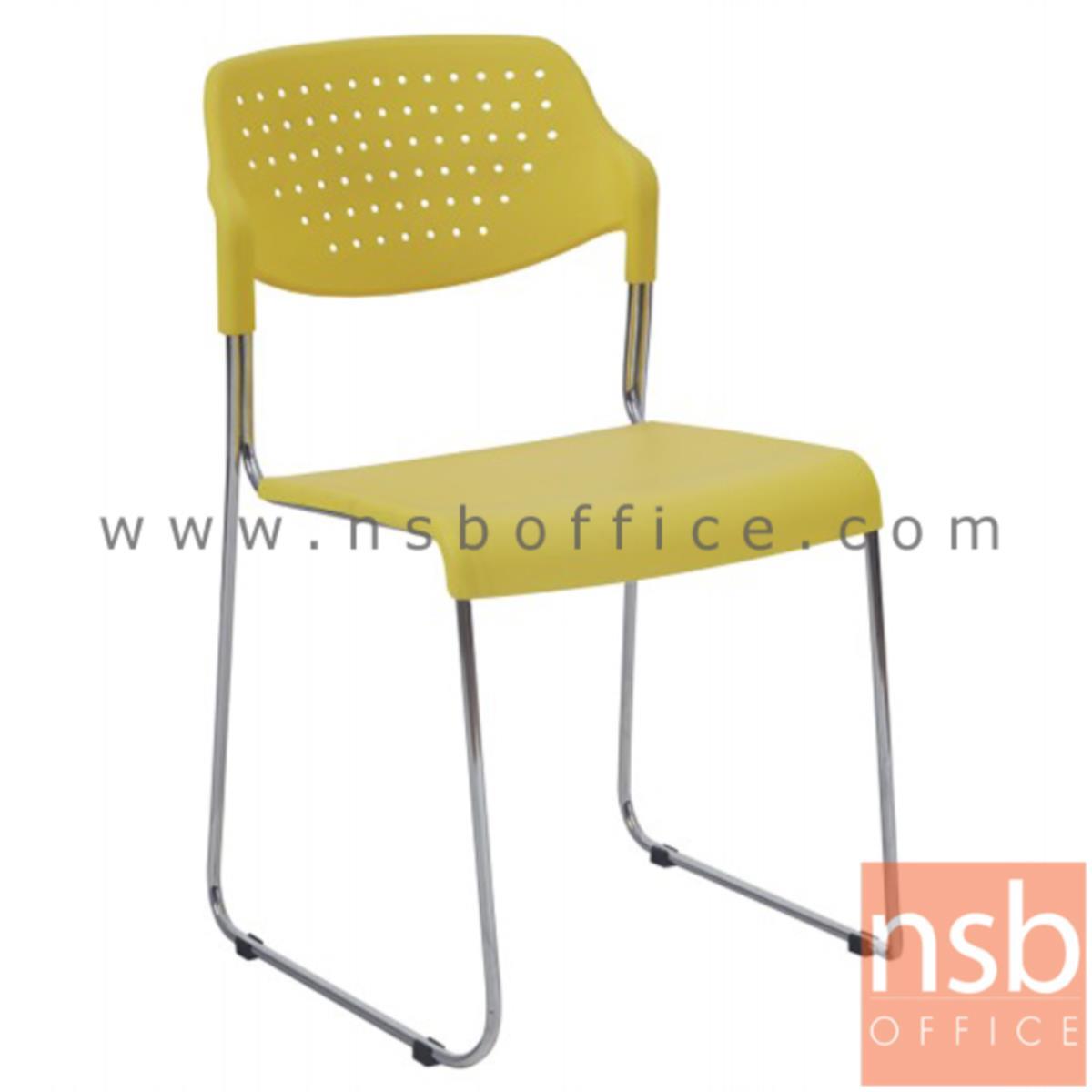 B05A103:เก้าอี้อเนกประสงค์เฟรมโพลี่ รุ่น Sweetcorn (สวีทคอร์น)  ขาตัวยูชุบโครเมี่ยม