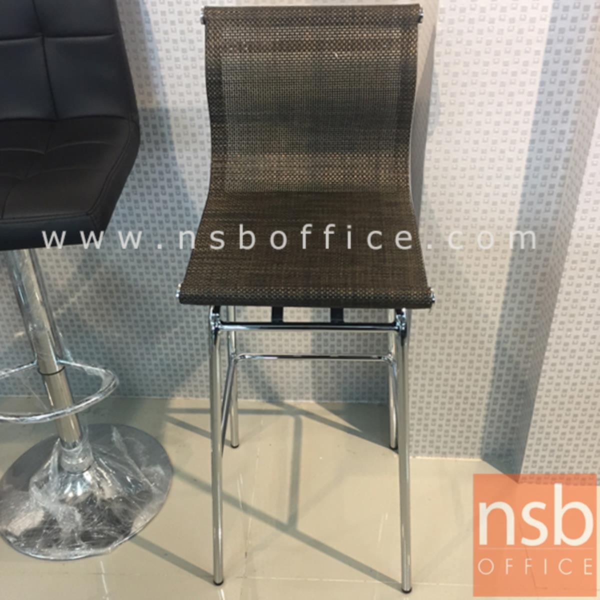 เก้าอี้บาร์สูงผ้าเน็ต รุ่น BH-8818 ขนาด 39W cm. โครงเหล็กชุบโครเมี่ยม