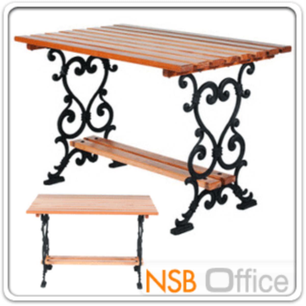 โต๊ะสนามไม้เต็ง เหล็กหล่อ กทม. BKK-TOO10 (100, 120, 150, 200 cm)