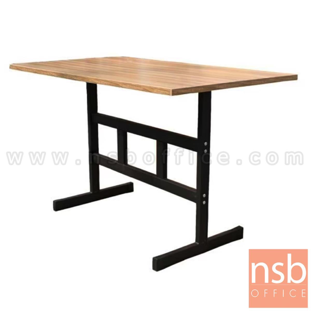 G14A231:โต๊ะรับประทานอาหาร รุ่น Refresh (รีเฟรช) ขนาด 120W cm. ขาเหล็กพ่นสีดำ