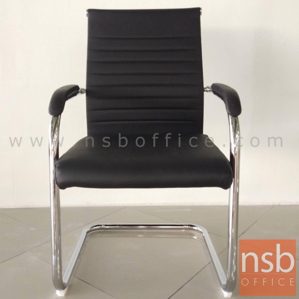 เก้าอี้รับแขกขาตัวซี รุ่น Alemana (อารีมานะ) ขาเหล็กชุบโครเมี่ยม