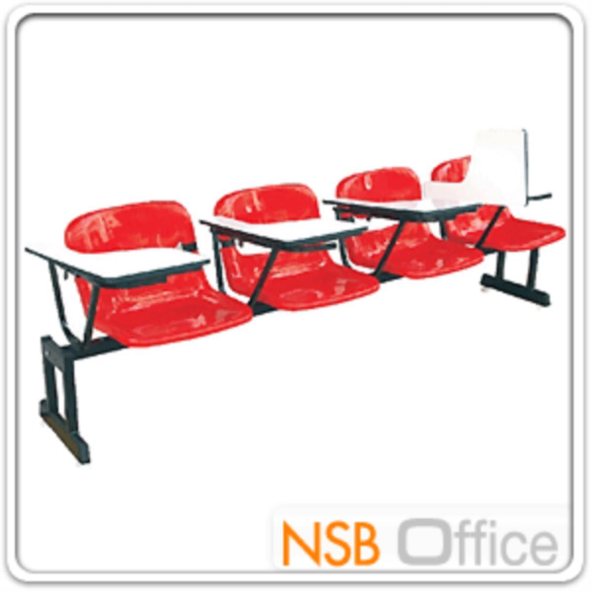 เก้าอี้เลคเชอร์แถวเฟรมโพลี่ รุ่น POLY-001  3 และ 4 ที่นั่ง ขาเหล็กเหลี่ยมแบบขาคู่พ่นดำ