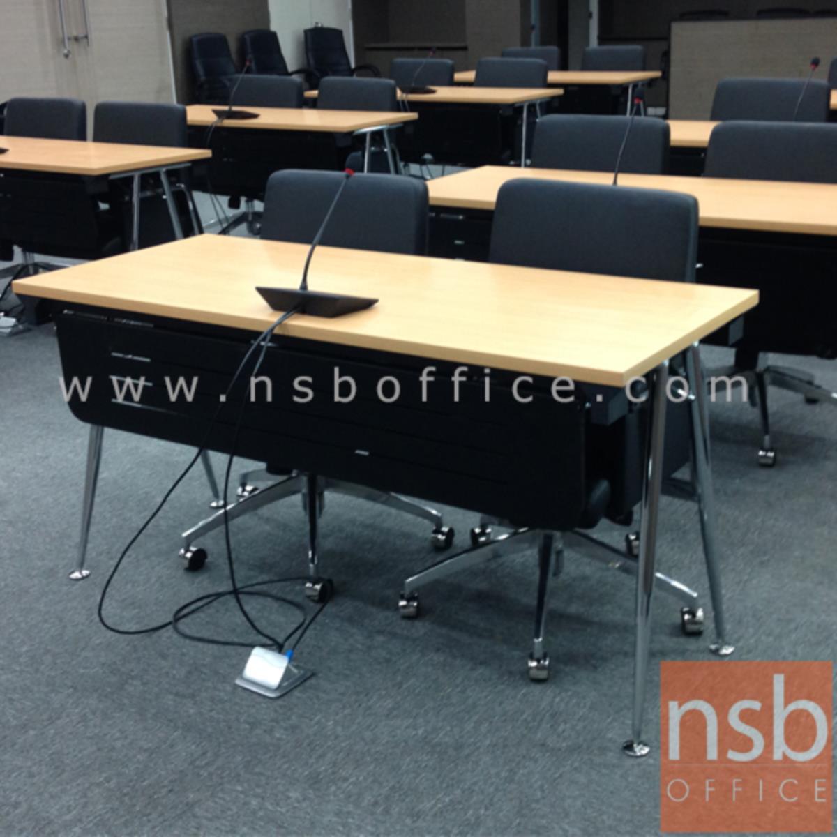 โต๊ะประชุมพับเก็บได้ รุ่น  Berline (เบอไลน์) ขนาด 150W ,180W*60D ,75D cm.  พร้อมบังโป๊เหล็ก ขาเหล็ก