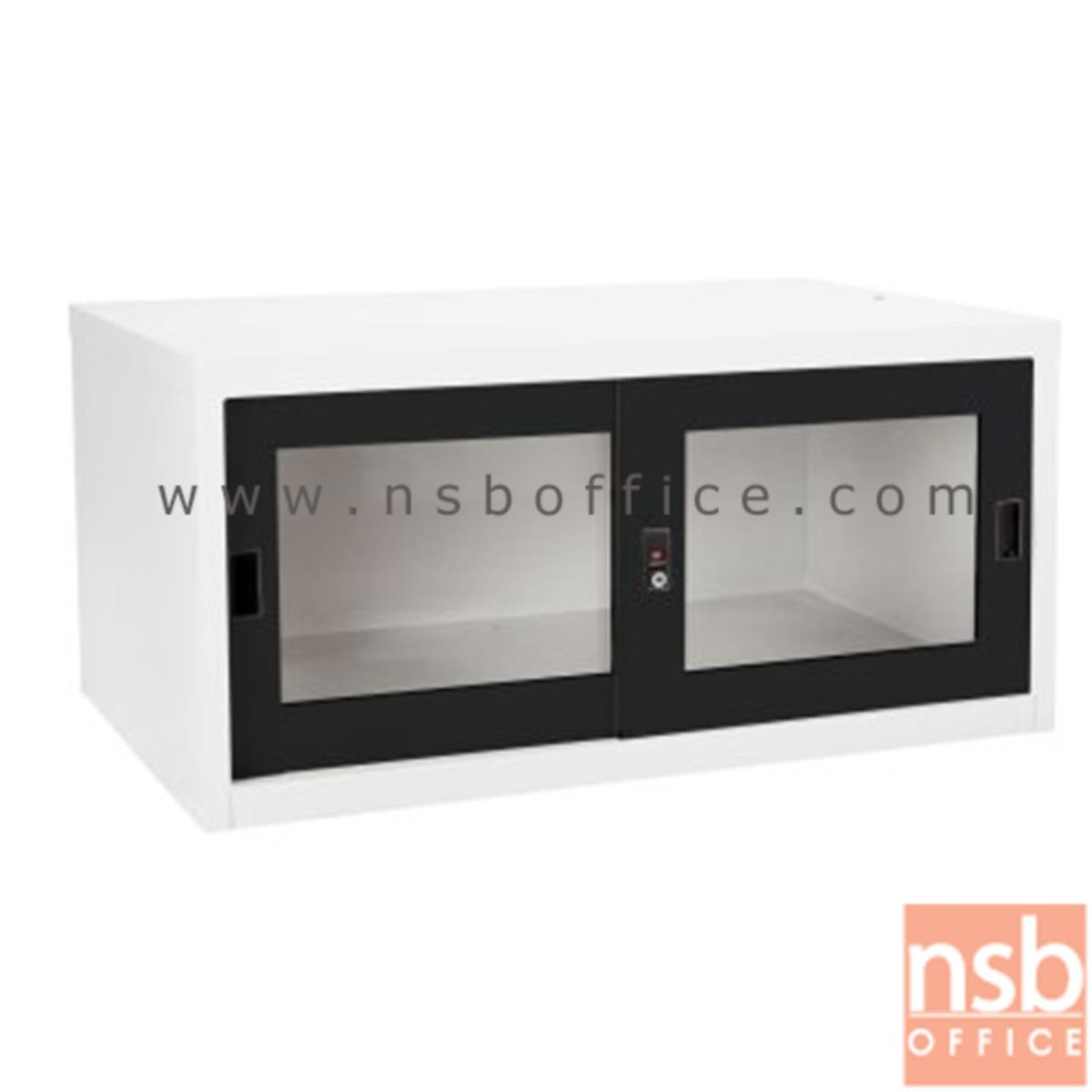 ตู้เสริมบนตู้เสื้อผ้าเหล็ก บานเลื่อนกระจก (สูงรวม 226 cm.) รุ่น SGC-04