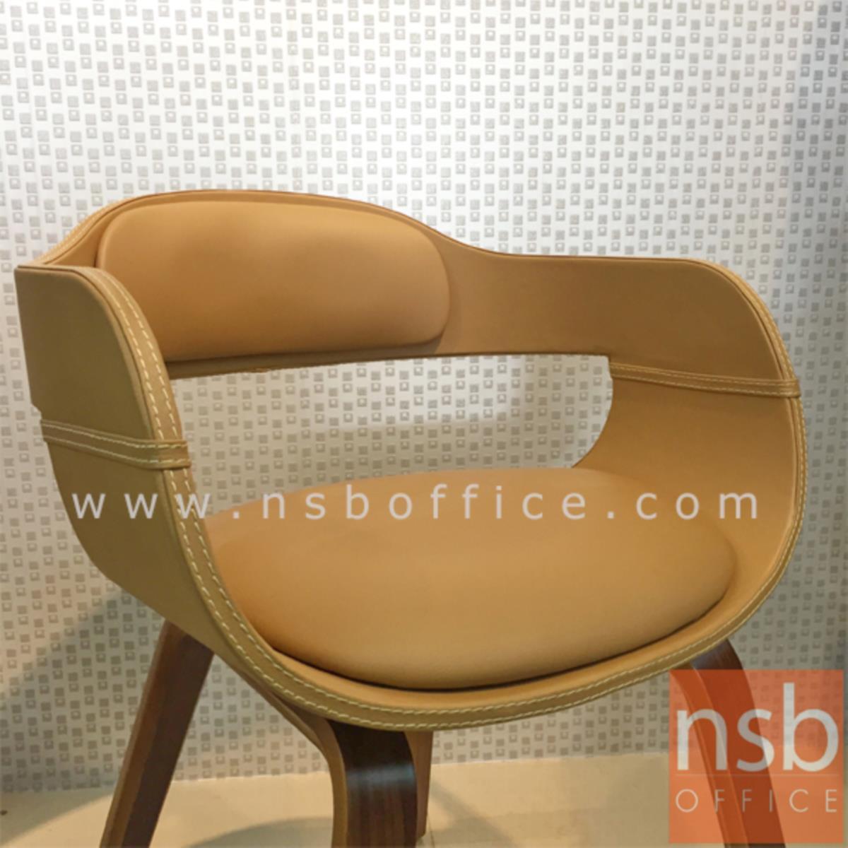 เก้าอี้โมเดิร์นหนังเทียม รุ่น Mandurah (แมนเจอรา) ขนาด 40W cm. โครงไม้ปิดผิววีเนียร์