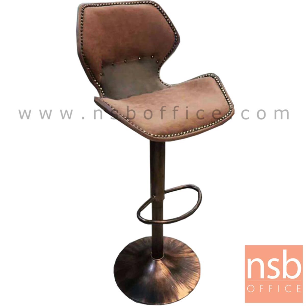 B18A073:เก้าอี้บาร์สูงหนังเทียม รุ่น BC-A ขนาด 48W cm. โช๊คแก๊ส โครงเหล็กสีทองรมดำ