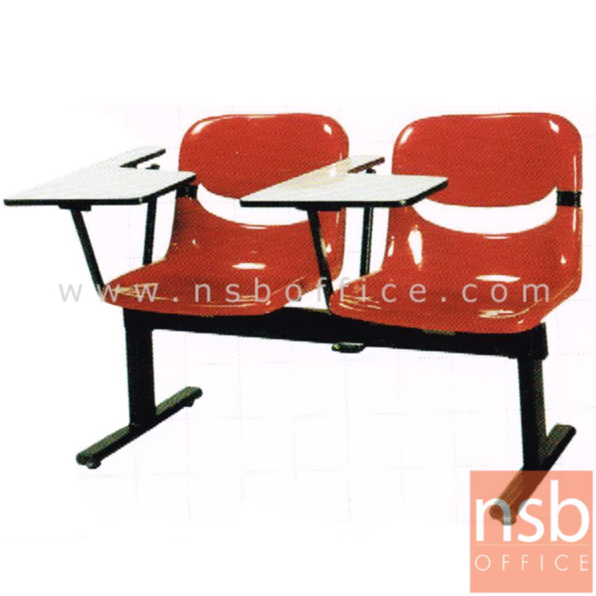 เก้าอี้เลคเชอร์แถวเฟรมโพลี่ รุ่น D001 2 ,3 และ 4 ที่นั่ง ขาเหล็กเหลี่ยมพ่นสี