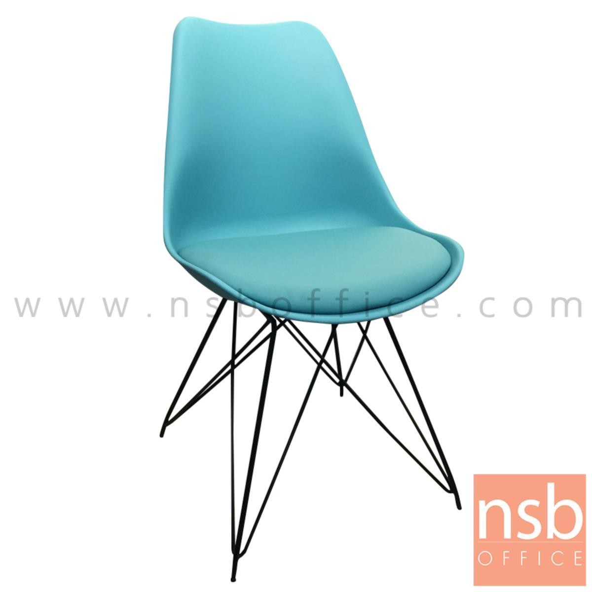 B29A218:เก้าอี้โมเดิร์นพลาสติก (PP) รุ่น Elaine (เอเลน) ขนาด 47W cm. โครงขาเหล็กเส้นพ่นสีดำ